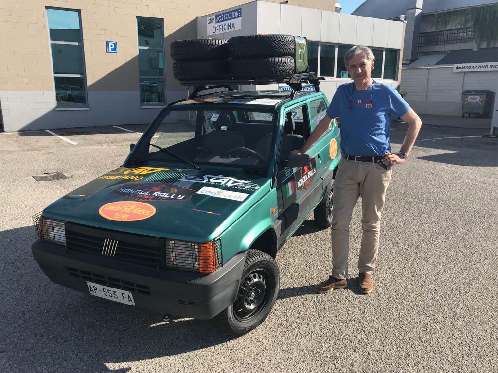 Cover Alberto Cazzani per Dynamo Camp al Mongol Rally