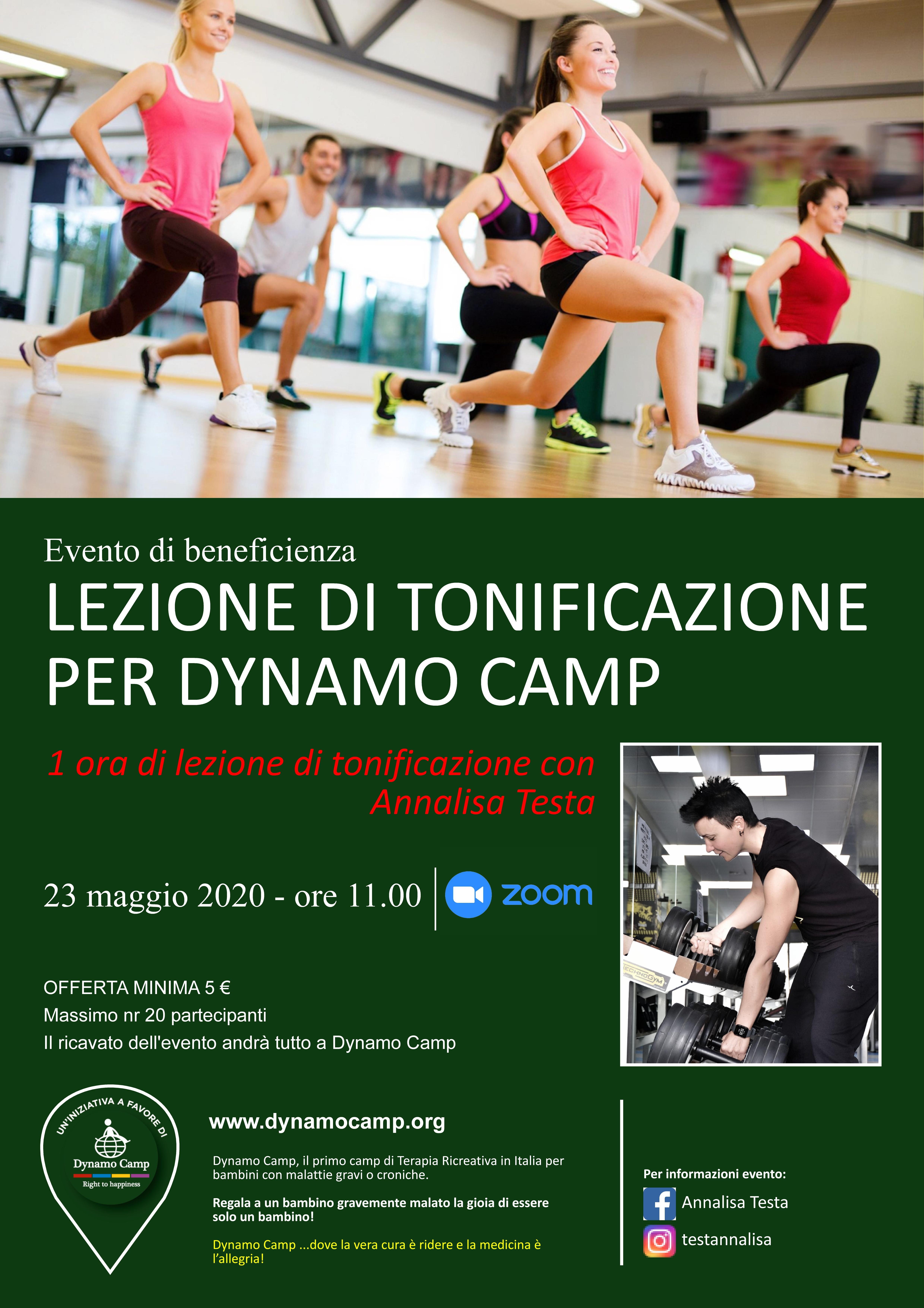 Cover LEZIONE DI TONIFICAZIONE PER DYNAMO CAMP