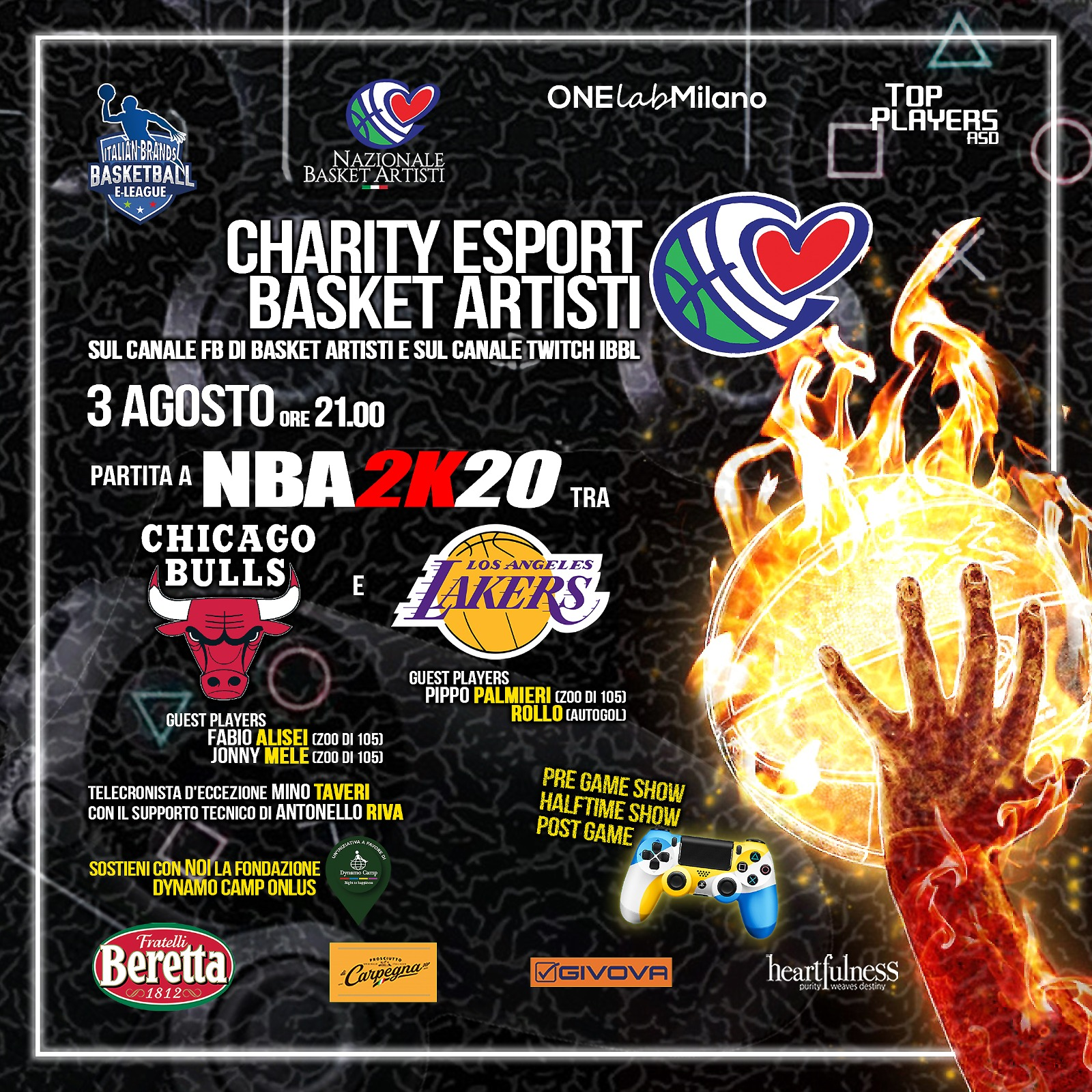 Cover CHARITY eSPORT BASKET ARTISTI