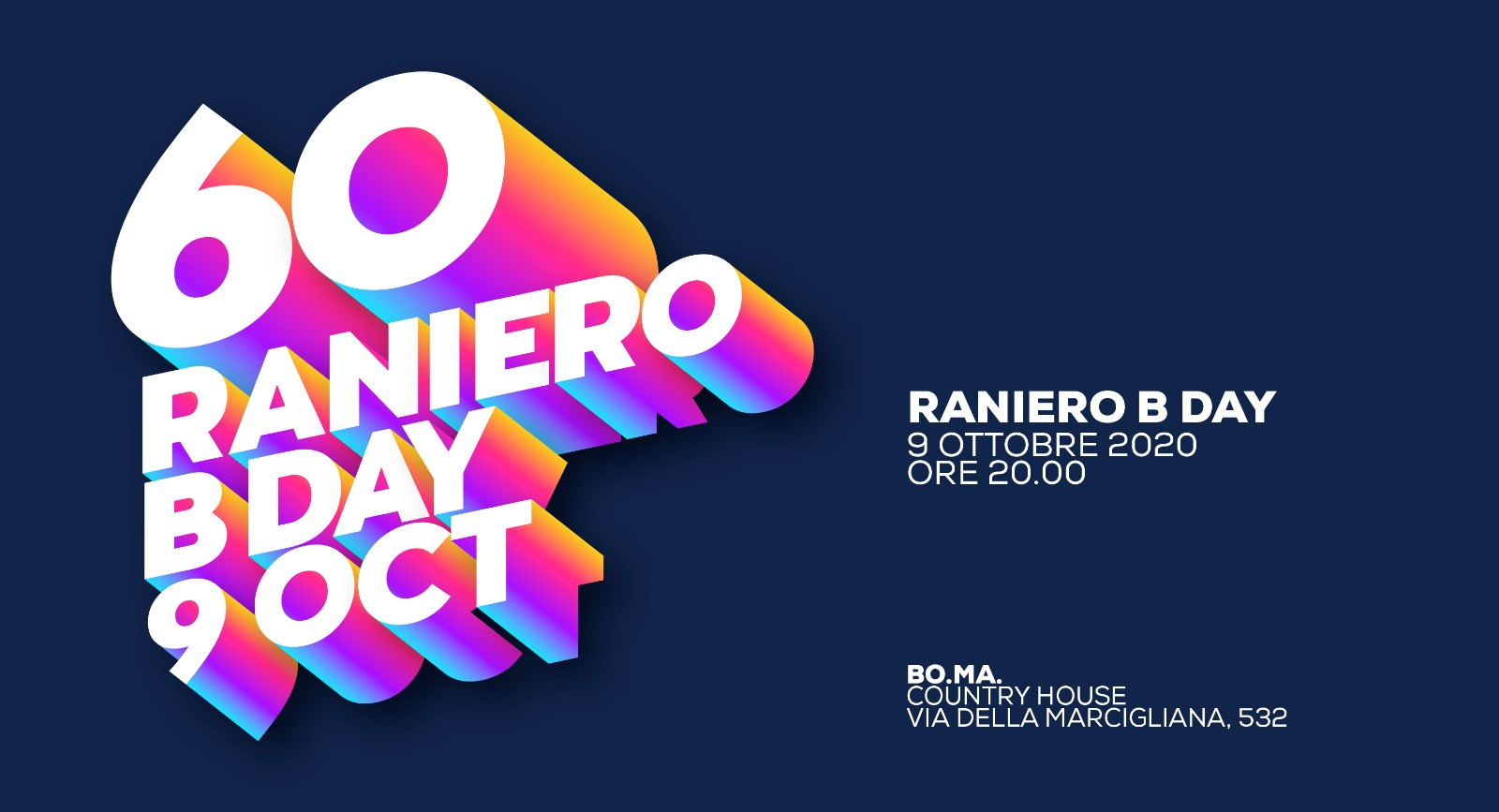 Cover 60 Raniero BDAY