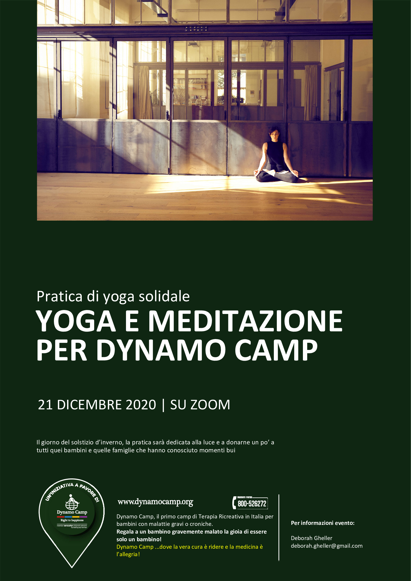 Cover LEZIONE DI YOGA PER DYNAMO CAMP